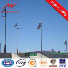 Lámpara de calle de 8 m Single Brackte con panel solar