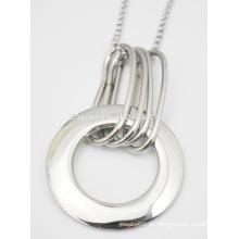 Trendy espelho polonês aço pingente colar de pingente de moda