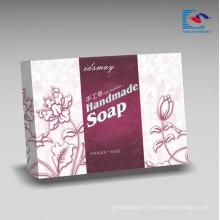 Embalaje cosmético reciclado personalizado del regalo de la caja de papel de la cartulina para el jabón hecho a mano