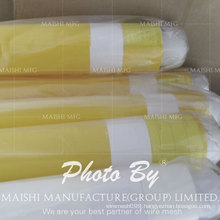 White/Yellow 100% Monofilament Polyester Silk Screen Printing Mesh
