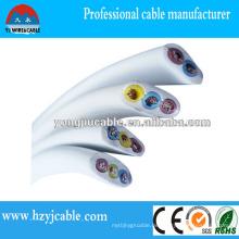 Untergrund Elektrischer Draht Kupfer / CCA Leiter PVC Mantel Flachmantel Kabel