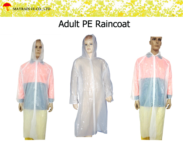 Adult PE Raincoat