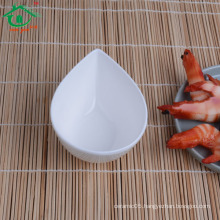 shopping water drop shape Dish for hotel, restaurant and home use, white color/OEM/ODM