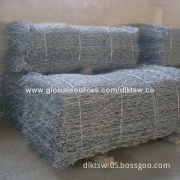 Gabion Box and Mattress with Steel Rods Inserted and Single Mesh Panel