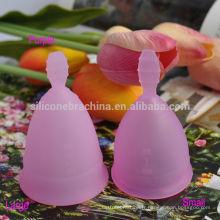 Tasses menstruelles de silicone de qualité médicale de platine de 100%