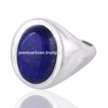 Natürlicher Lapis Edelstein 925 Sterling Silber Ring