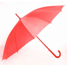 Auto Open Pure Red Straight Umbrella (BD-57)