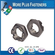 Made in Taiwan DIN 937 Low Slotted Hex Nut DIN 937 Low Castellated Hex Nut