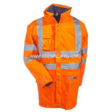 Men's High Visibility 4-In-1 Safety Hooded Jacket