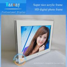 Super beau 15 pouces HD acrylique cadre photo numérique