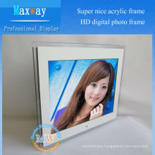 "Acrylic frame full hd 15"" lcd digital photo frame"