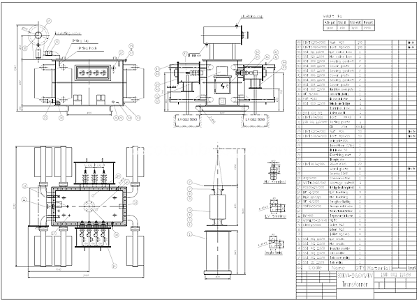 800kva transformer drawing