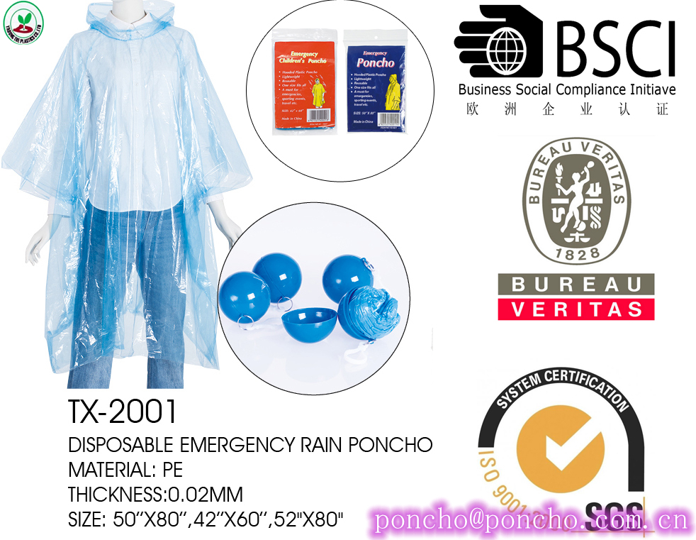 bright blue poncho