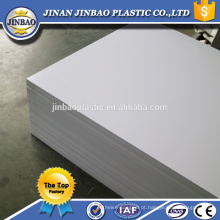 Placa rígida plástica branca do pvc da folha da tampa dura de 1.8mm para imprimir