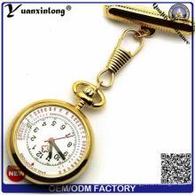 Yxl-959 Высокое качество нержавеющей стали медсестра больницы Медсестра часы карманные часы Врач набора циферблат кварцевой медсестры часы грудь таблице