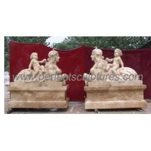 Сад Каменная статуя Мраморная скульптура с резным камнем (SY-X1118)