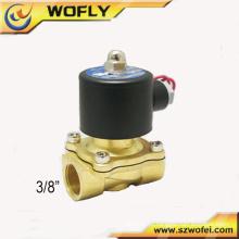2 posições 2 vias 3/8 pol. 220v ac solenóide válvula de água temperatura normal