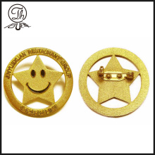 Smile Face Goldfarbe Reversstift