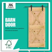 JHK-SK11 Single Pine Wooden Shaker Style Barn Door