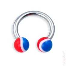 Circular Barbell Ring With Pepsi Balls