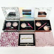 Dollar Marble Lash Kit Set For Magic Eyeliner GLue Own Brand Eyelash Package/Private Label Mink/Silk Eyelashes With Custom Box