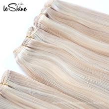 Оптовая Двойная нарисованная очень Толстого 10А Девы человеческих волос натуральный блонд волнистые