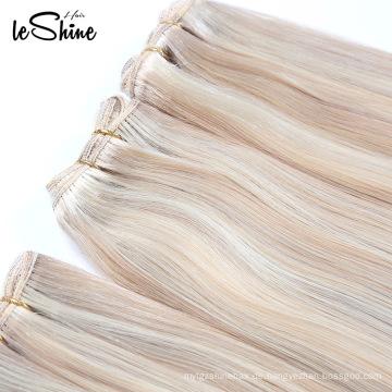 Großhandelsdoppeltes gezeichnetes sehr starkes menschliches europäisches Haar der Jungfrau-10A natürliches blondes gewelltes