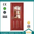 Fester Kern PVC Holz Composite Tür für Zimmer / Eingang mit Glas