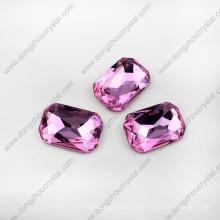 Piedras cristalinas del octágono flojo sin plomo con estilo para la fabricación de la joyería