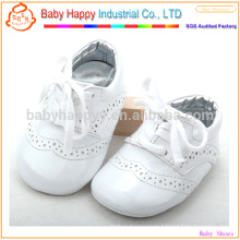 White newborn baby wear shoes fashion PU baby shoes