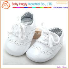 Белый новорожденный ребенок носить обувь моды PU детская обувь
