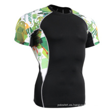 Fabricado por encargo Sublimation impresión cabida Sports T-Shirt