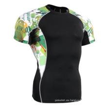 Fabricado por encargo Sublimation impresión cabida Sports T-Shirt