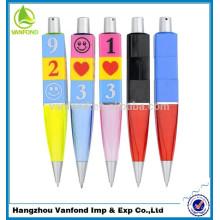 Recurso personalizado caneta esferográfica, caneta de brinquedo promoção, caneta mágica com a mudança