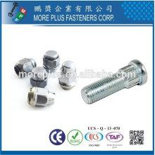 Taiwan Edelstahl 18-8 verchromt Stahl vernickelt Stahl Kupfer Messing Rad Schraube Rad Mütze Nuts Rad Nuts