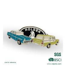 Metal barato epoxi coche cuadrado insignias