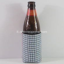 Coolers di birra in neoprene Gingham di moda