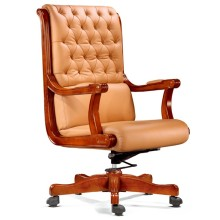 Botão Tufted Bege ajustável cadeira de escritório