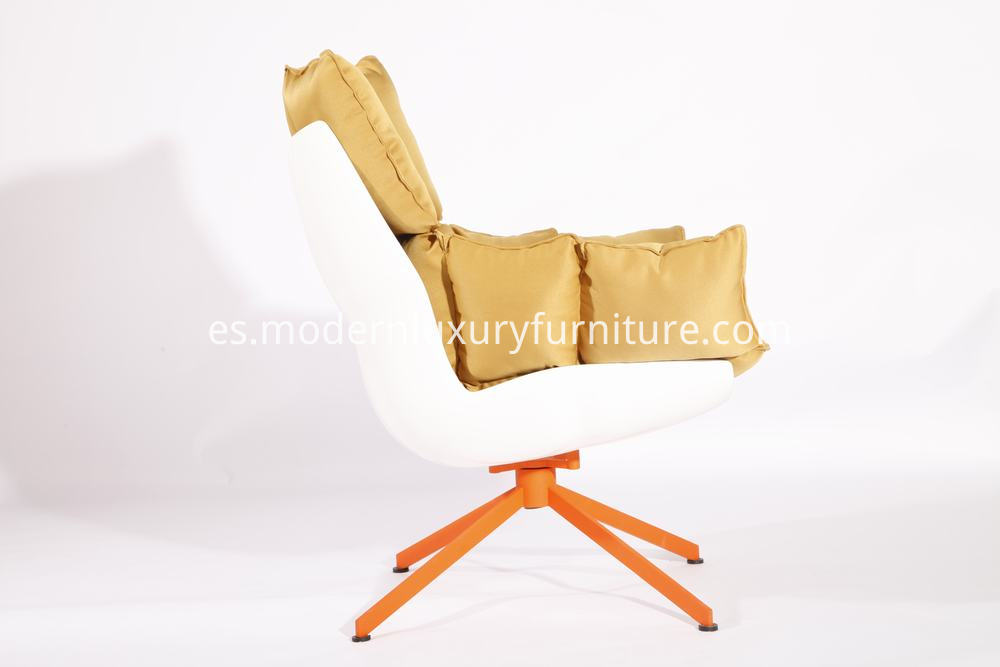 White Fabric Lounge Chair