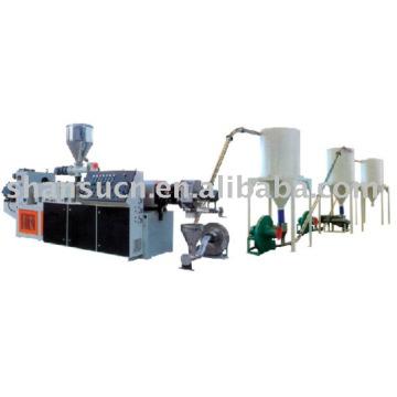 PVC et bois granulateur