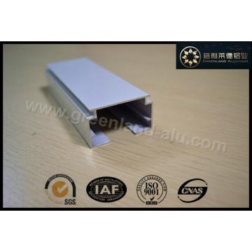 Gl2001 Riel principal de cortina de ventana de aluminio y varilla de inclinación para revestimiento de polvo ciego vertical blanco