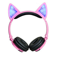 Wired Over Ear Headphones with Cat Ears