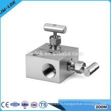 Instrument hydraulic 2 way manifold valve