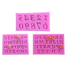 3-piece Digital Alphanumeric Letters Silicone Mold Flip Cake Mold Chocolate Silicone Molds For DIY