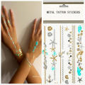 Glitter Shimmer impermeável tatuagem temporária adesivos