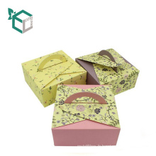 Promotionnel mariage amour dessert papier gâteau boîte cadeaux recyclable gâteau boîte à pâtisserie