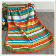 Boutique Soft Touch Throw Rainbow Housse de bébé biologique