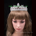 Neueste Design Crown Flower Shape Shiny Rhinestone Tiara