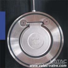 Disco único de acero fundido A216 Wcb Cl150 Tipo wafer Válvula de retención oscilante
