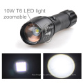 TP-1877 XML T6 / U2 LED poderoso luz / Zoomable Power Lanterna com saco de nylon